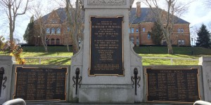 Munhall's WWI monument, located in front of the library