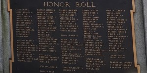 The names from the left side of the monument.  (The Lasdays and Markowitz are names that also appear on the shul plaques.)
