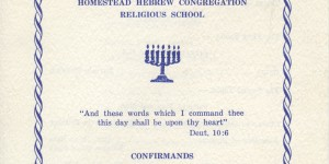 Front cover of program for 1966 confirmation