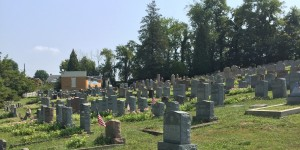 Cemetery (September 6, 2015, a week before Rosh Hashana).  Note the ohel in the distance.