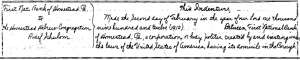 The first part of the deed for the synagogue lot on 10th avenue.  Click to enlarge.