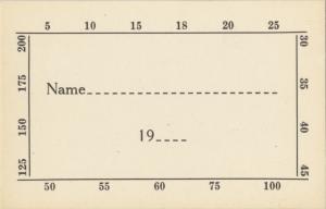 Pledge card (Box 9, Folder 7)