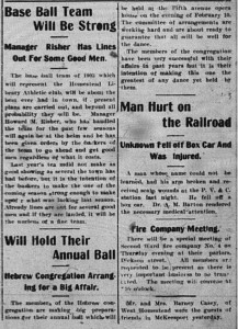 1/6/1903: Announcement of the ball