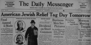 1/26/1916: Front page of the Homestead paper the day before the tag day