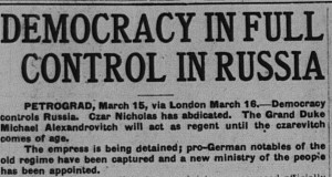 3/16/1917: An optimistic headline about events in Russia