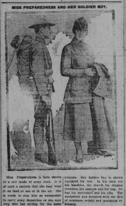 4/6/1917: Miss Preparedness and Her Soldier Boy