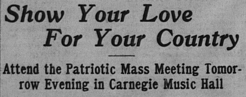 "4/30/1917: ""Soldiers are not the only thing the country is in need of. There are other things just as vital--things that you can do. Attend the meeting and learn what these things are."""