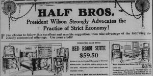 19170427 half bros ad top prez wilson