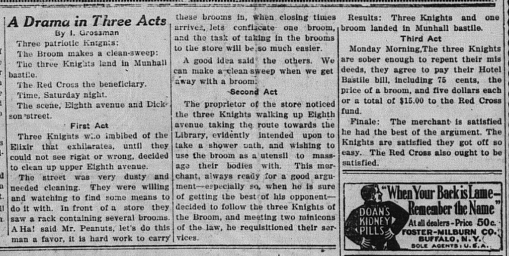 6/27/1918: A Drama in Three Acts by I. Grossman