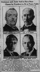 11/20/1918: Statesmen and Jurist Said to Have Been Chosen by President to Sit at Peace Table