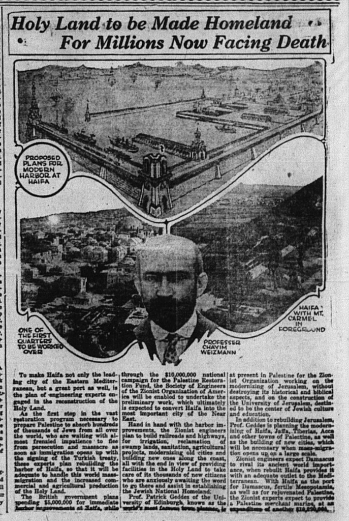 2/19/1920: Holy Land to be Made Homeland For Millions Facing Death
