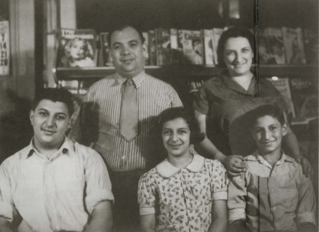 Joseph and Lillian Goldblum with children Harold, Charlotte, and Charles, c. 1935, in their confectionary store at 1404 Carson Street (the same location as the store of the father of fellow famous Homesteader Jacob Rader Marcus, but three decades later!).
